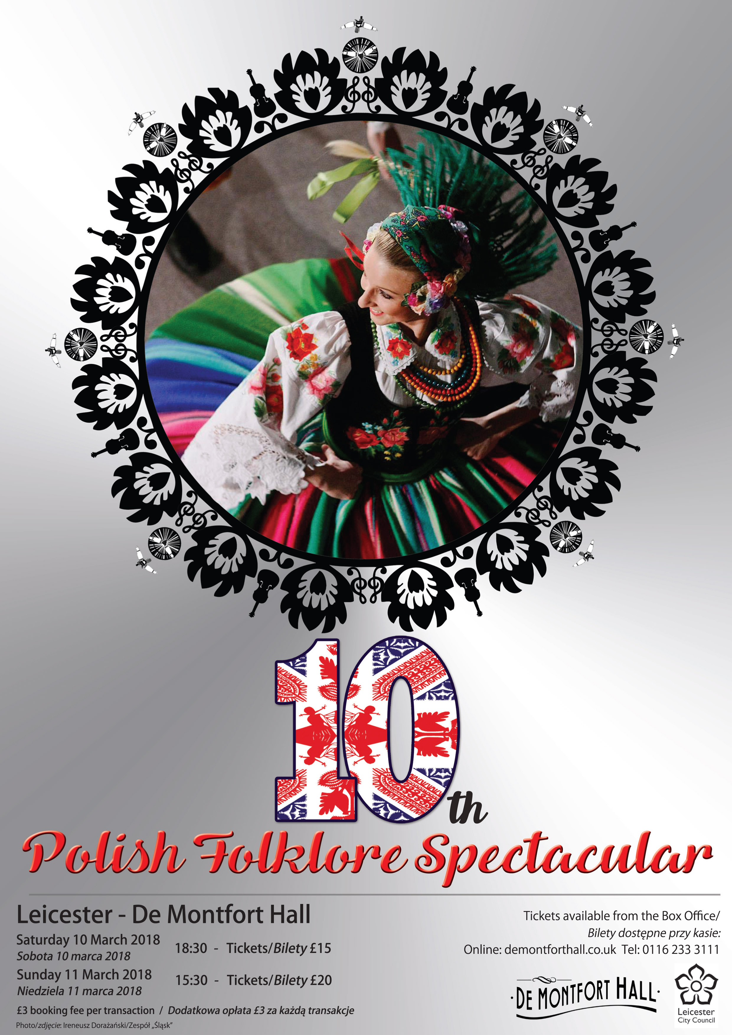 10th Polish Folklore Spectacular at De Montford Hall in Leicester 10-11 March 2018